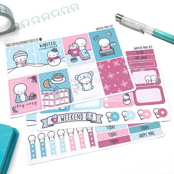 Winter Emoti Mini Kit (3-4 pages)
