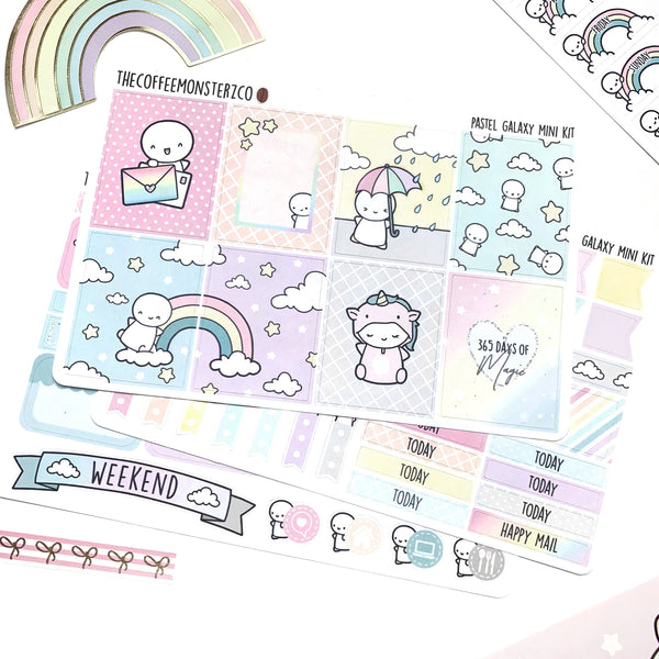 Pastel Galaxy Emoti Mini Kit, TheCoffeeMonsterzCo