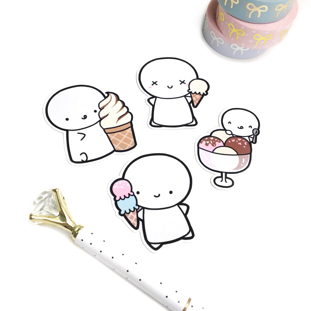 Ice Cream Emoti Diecuts, TheCoffeeMonsterzCo