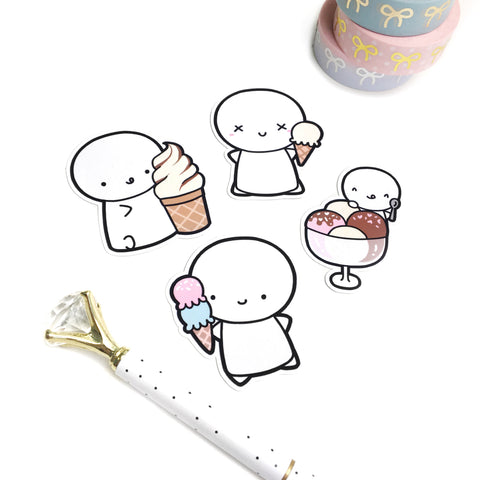 Ice Cream Emoti Diecuts
