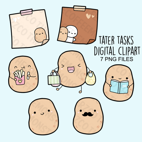 Tater Clipart Set (Digital File)