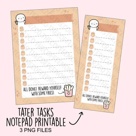 Tater Tasks Notepad (Digital File)