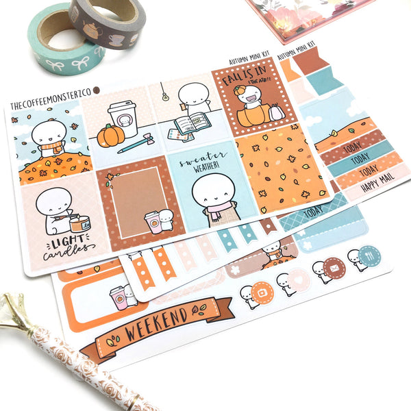 Autumn Emoti Mini Kit (3-4 pages), TheCoffeeMonsterzCo