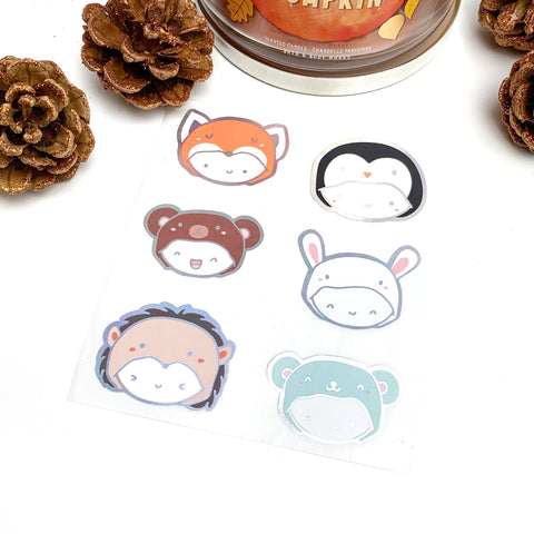 Limited Fall & Winter Onesie Seal Stickers (Holo Foil)