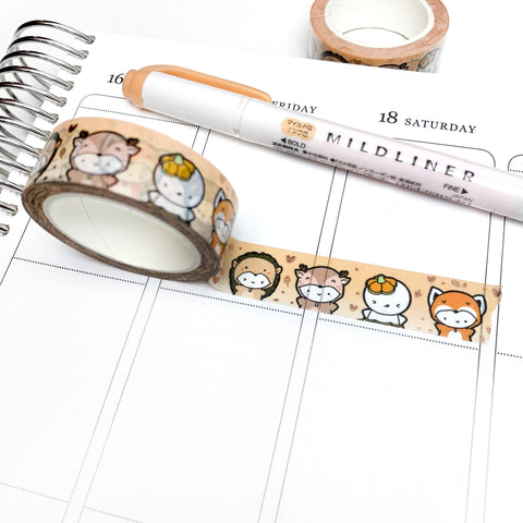 Fall Critters Washi Tape (Satin Champagne Foil)