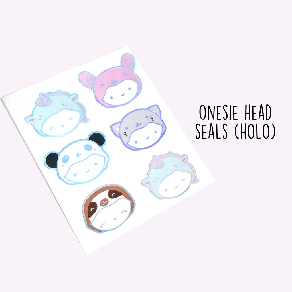 Holo Foil Onesie Seal Stickers