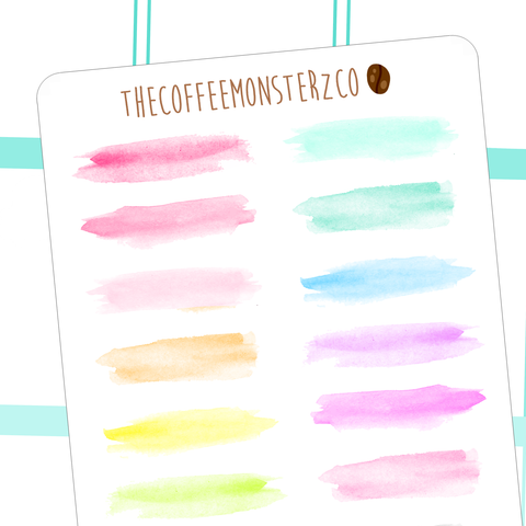 watercolour swatches