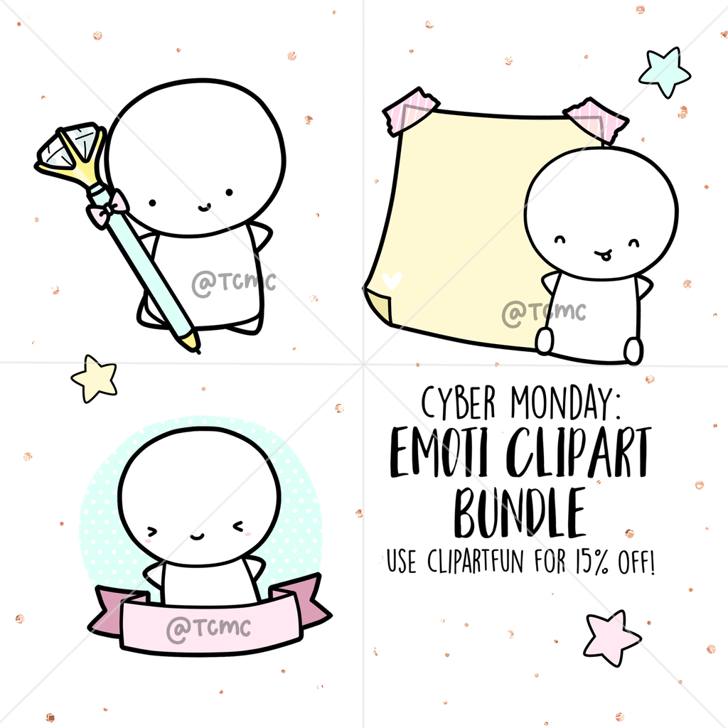 Emoti Digital Clipart Download PNG, TheCoffeeMonsterzCo