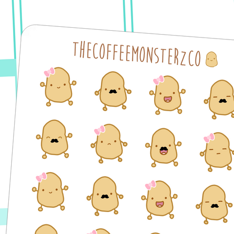 tater emoticons, TheCoffeeMonsterzCo