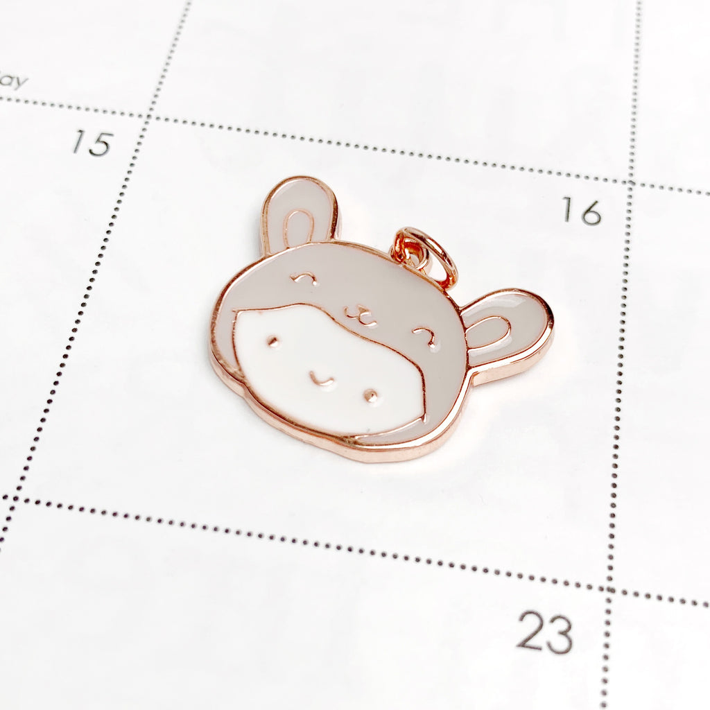 Rose Gold Bunny Onesie Charm (1 PER PERSON)