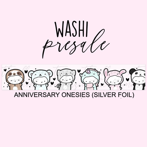 PRESALE Anniversary Onesies Washi Tape (Silver Foil)