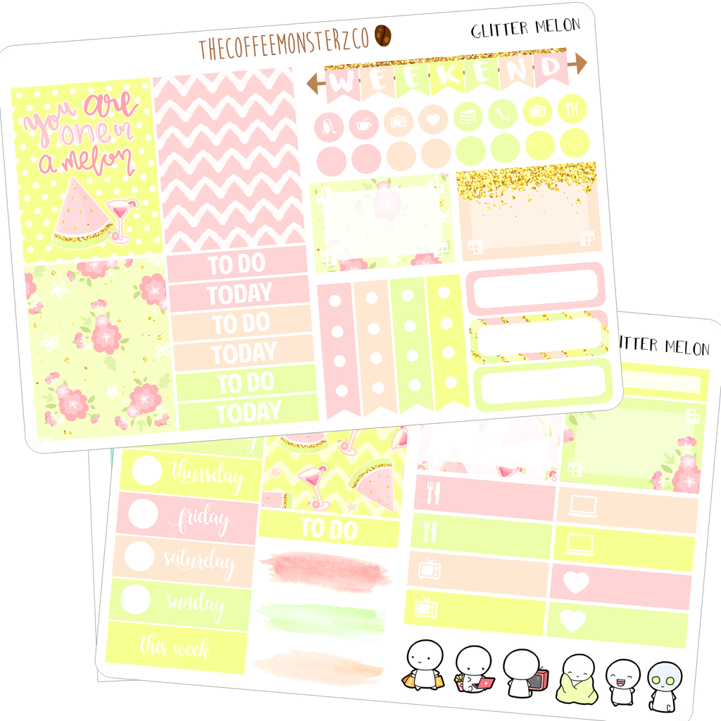 glitter melon mini kit