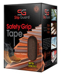 "Non Slip Tape - 6"" x 24"" Pre-Cut Strips (Pack of 12), Brown"