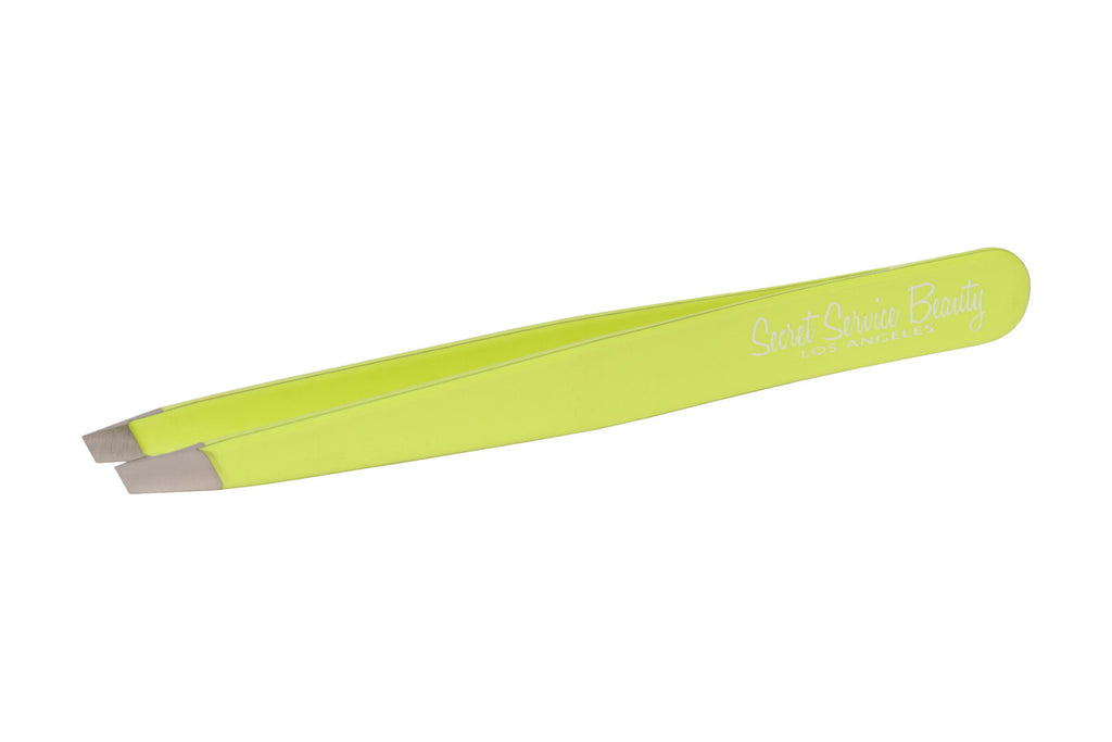 Florescent Yellow Stainless Steel Italian Tweezers