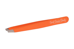 Florescent Orange Stainless Steel Italian Tweezers