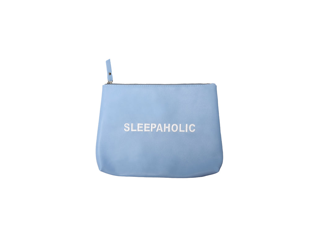 Baby Blue Sleepaholic Vegan Makeup Bag