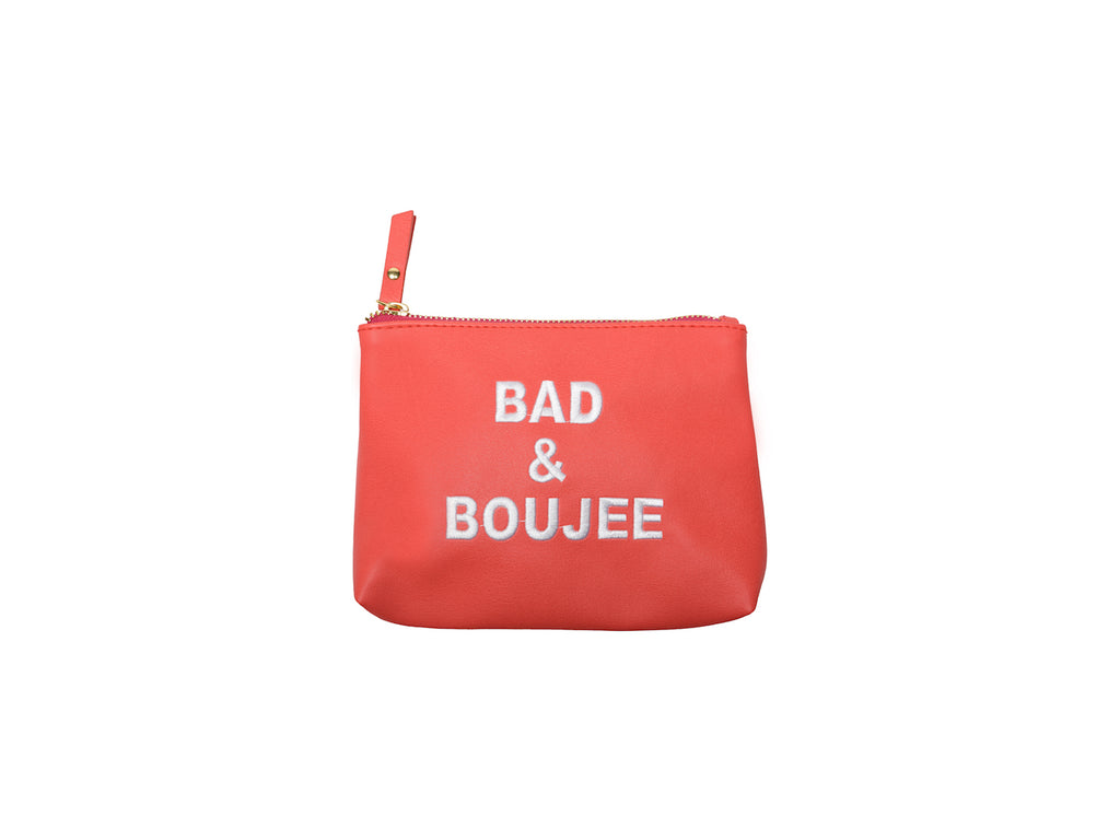 Burnt Orange Bad & Boujee Vegan Small Makeup Bag