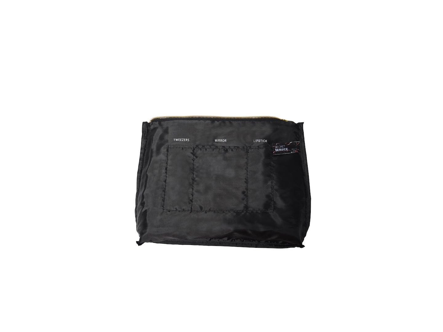 Black Fuck Hair Large Vegan Makeup Bag
