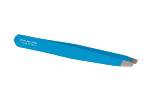 Florescent Sky Blue Stainless Steel Italian Tweezers