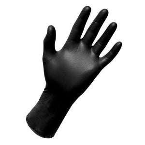 BLACK NITRILE POWDER-FREE GLOVES - 100/BOX SZ Small
