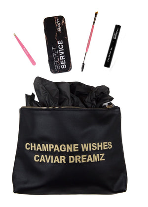 Black Champagne Wishes Deluxe Brow Gift Set