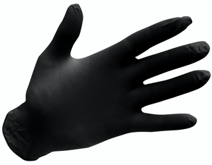 Microflex Black Exam Nitrile Gloves Médium