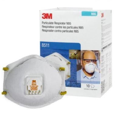3M Box of 10 Particulate Respirator Mask N95