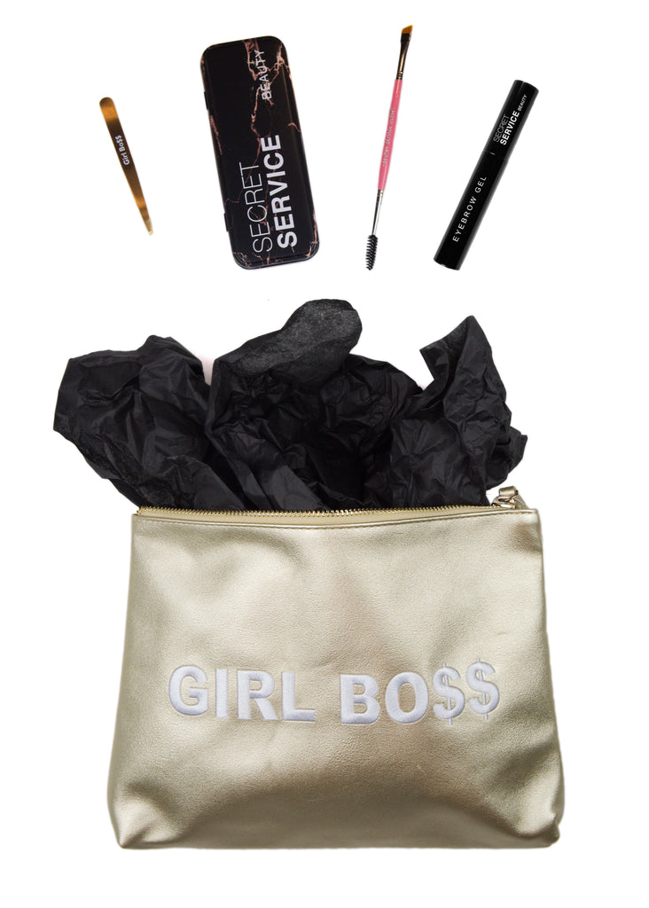 Gold Girl Boss Brow Holiday Set