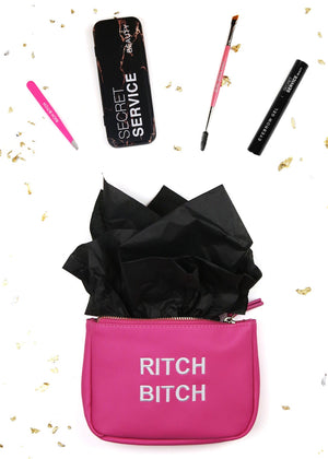 Hot Pink Vegan Small Rich Bitch Deluxe Brow Set