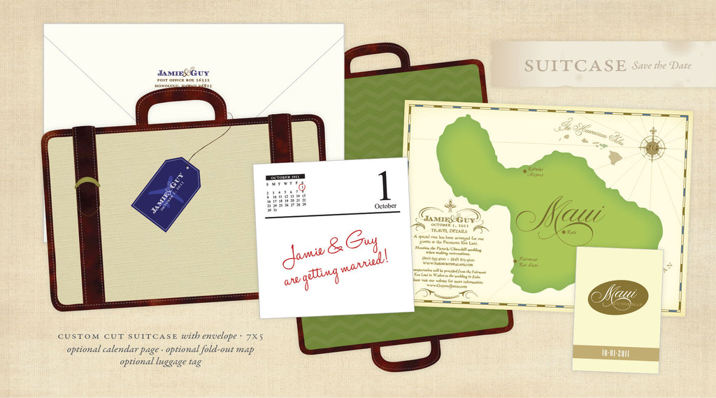 Suitcase Save the Date