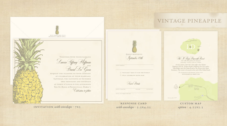 Vintage Pineapple Invitation