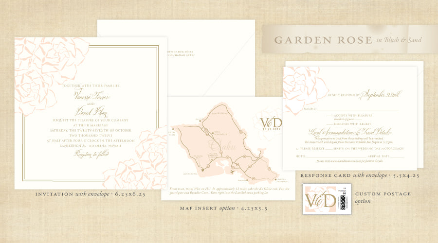 Garden Rose Invitation