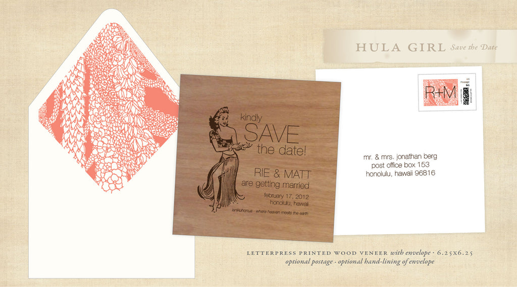 Vintage Hula Save the Date