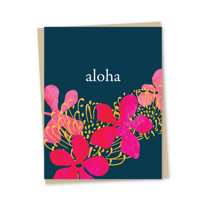 Mokara Folded Note Cards - Single or Set of 6