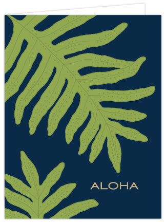Lauae Print Aloha Folded Note Cards - Single or Set of 6