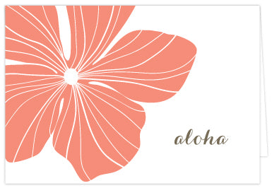 Hibiscus Folded Note Cards - Single or Set of 6