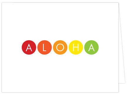 Aloha Dots Folded Note Cards - Single or Set of 6