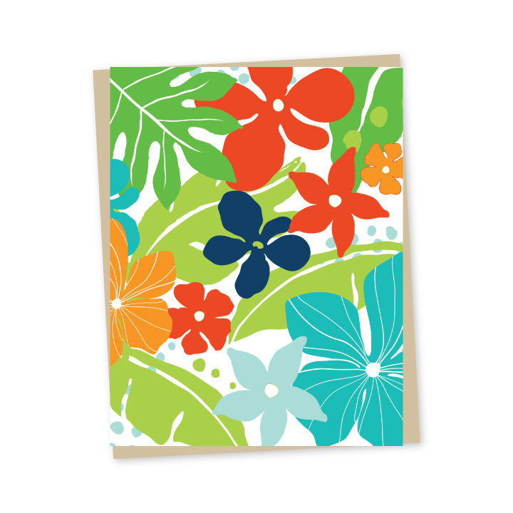 Tropical Brights Note Cards - Single or Set of 6