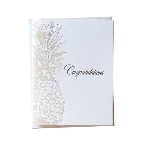 Vintage Pineapple Congrats Card