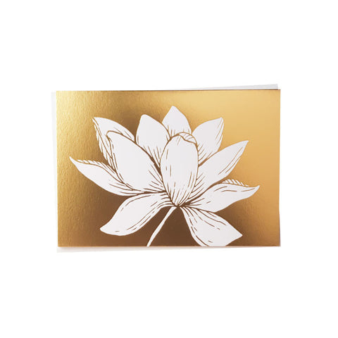 Gold Foil Lotus Card