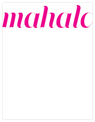 Mahalo Letterpress A2 Flat Note Cards - Set of 6