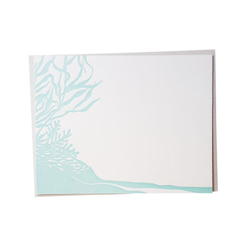 Reef Silhouette Letterpress Note Cards