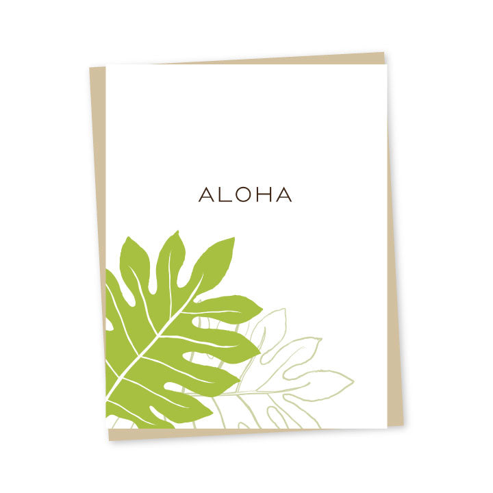 'Ulu Aloha Folded Note Cards - Single or Set of 6