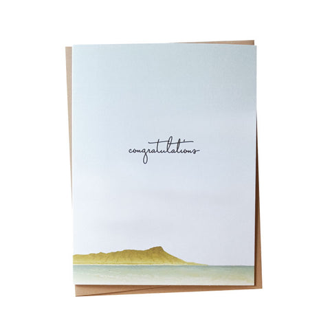 Diamond Head Congratulations Folded Single Note Card