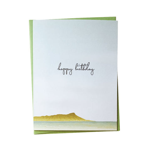 Diamond Head Birthday Card