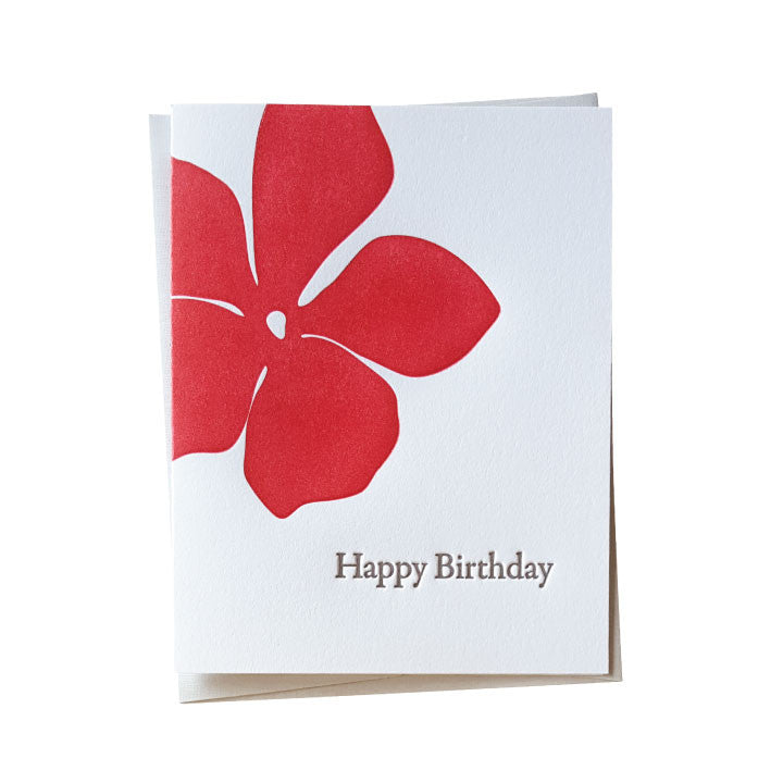 Hibiscus Birthday Card