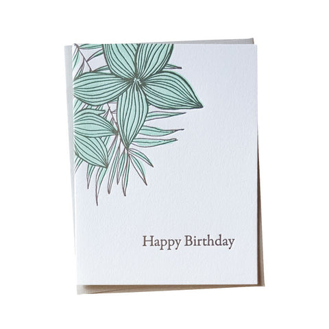 Plumeria Birthday Card