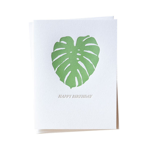 Monstera Birthday Card