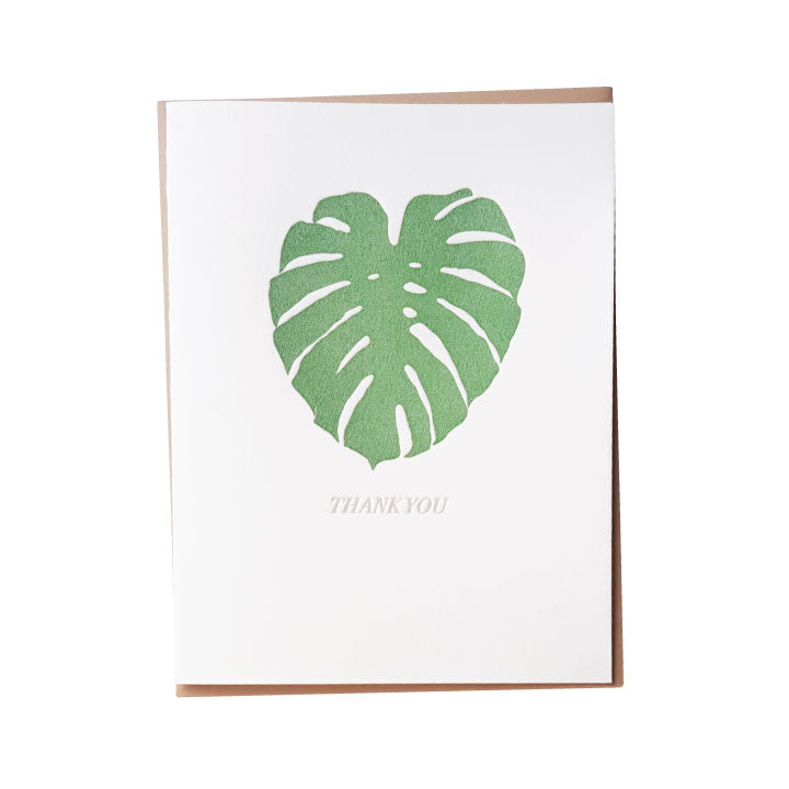 Monstera Thank You Card