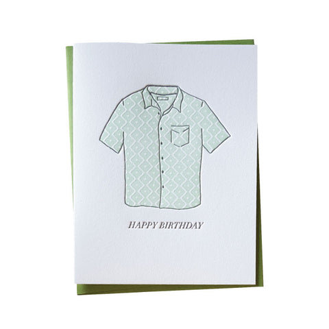 Aloha Shirt Birthday Card